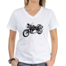 Triumph Thruxton Motorbike Red Shirt