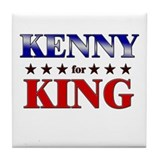 KENNY for king Tile Coaster