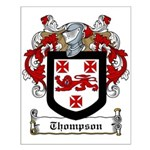 Thompson Family Crest Small Poster