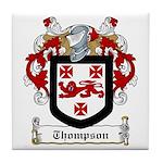 Thompson Family Crest Tile Coaster