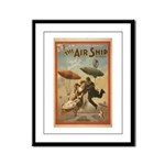 The Airship Framed Panel Print