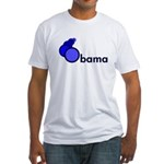 Blue Circles Obama Fitted USA T-Shirt
