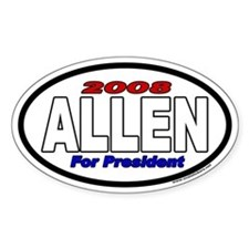 Allen For President 2008 Euro Style Oval Decal