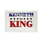 KENNETH for king Rectangle Magnet (10 pack)