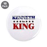 "KENNETH for king 3.5"" Button (10 pack)"