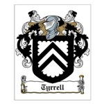 Tyrrell Family Crest Small Poster