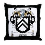 Tyrrell Family Crest Throw Pillow