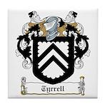 Tyrrell Family Crest Tile Coaster