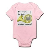 Horn-Life's Too Short Onesie