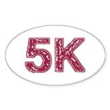 5K Oval Decal