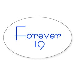 Forever 19 blue Oval Sticker