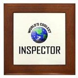 World's Coolest INSPECTOR Framed Tile
