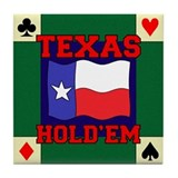 Texas Holdem Tile Coaster