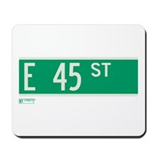 45th Street in NY Mousepad