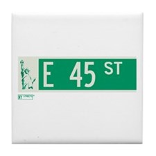 45th Street in NY Tile Coaster