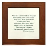 Cherokee Blessing Framed Tile