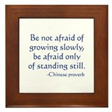 Be Not Afraid Framed Tile