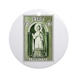 Gorgeous Irish Stamp Ornament (Round)