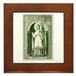 Gorgeous Irish Stamp Framed Tile
