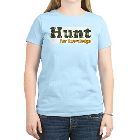 Hunt For Knowledge Women's Pink T-Shirt