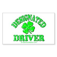Designated Driver 2 Rectangle Decal