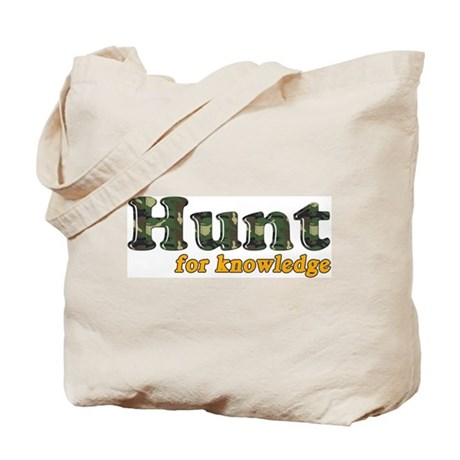 Hunt For Knowledge Tote Bag