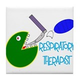 Cute Respiratory therapist Tile Coaster