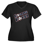Goalies Rock! Women's Plus Size V-Neck Dark T-Shir
