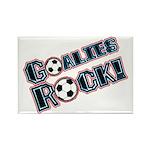 Goalies Rock! Rectangle Magnet