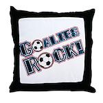 Goalies Rock! Throw Pillow