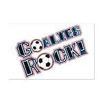 Goalies Rock! Mini Poster Print