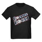 Goalies Rock! Kids Dark T-Shirt