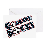 Goalies Rock! Greeting Card