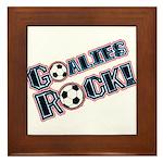 Goalies Rock! Framed Tile