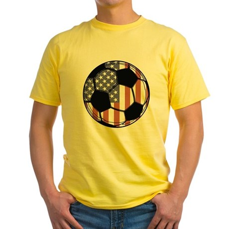 Soccer Ball USA Yellow T-Shirt