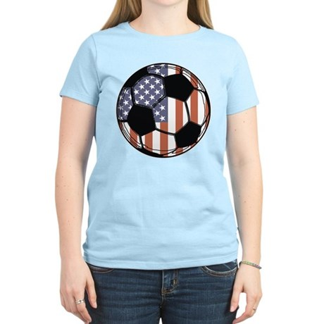Soccer Ball USA Women's Light T-Shirt