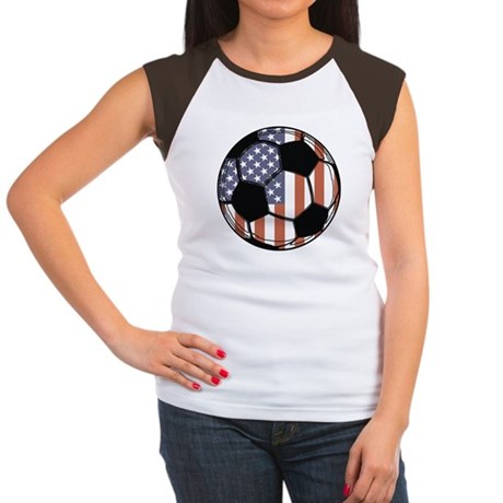 Soccer Ball USA Women's Cap Sleeve T-Shirt