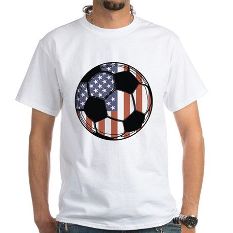 Soccer Ball USA White T-Shirt