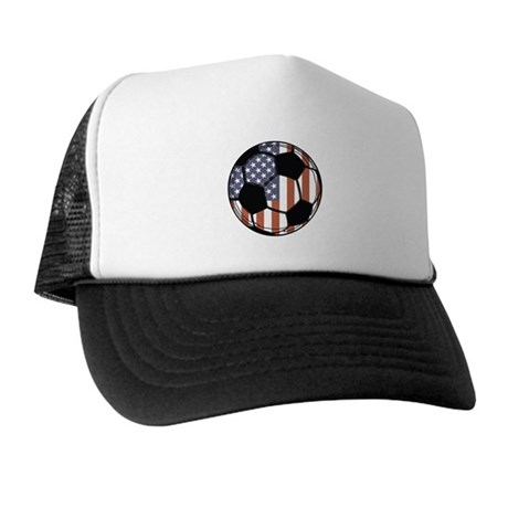 Soccer Ball USA Trucker Hat