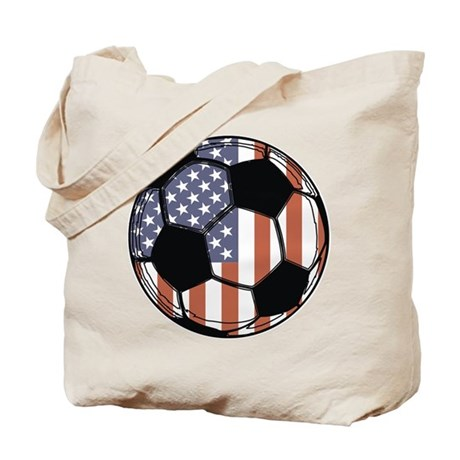 Soccer Ball USA Tote Bag