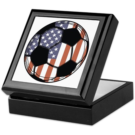 Soccer Ball USA Keepsake Box