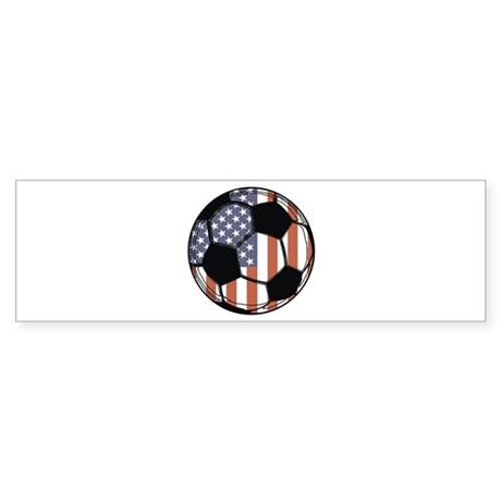 Soccer Ball USA Bumper Sticker