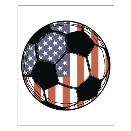 Soccer Ball USA Small Poster