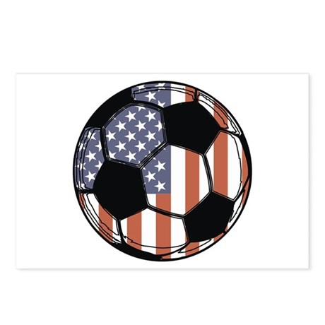 Soccer Ball USA Postcards (Package of 8)