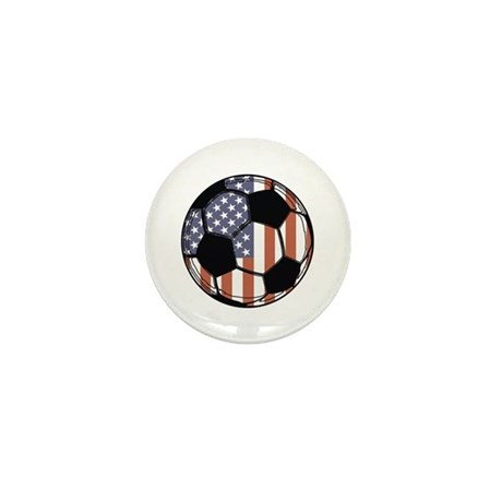 Soccer Ball USA Mini Button