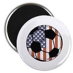 Soccer Ball USA Magnet