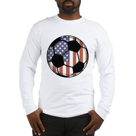 Soccer Ball USA Long Sleeve T-Shirt
