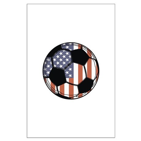 Soccer Ball USA Large Poster