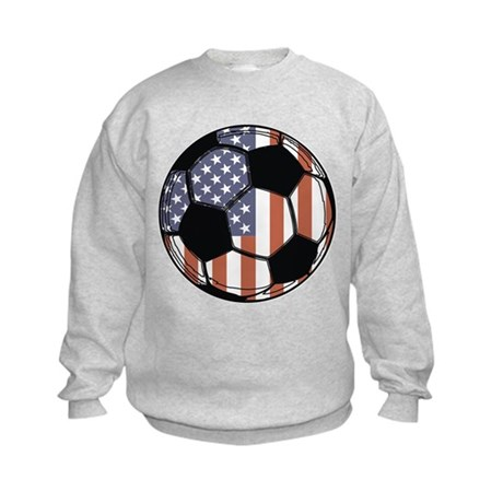 Soccer Ball USA Kids Sweatshirt