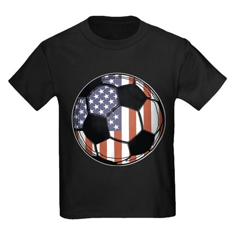 Soccer Ball USA Kids Dark T-Shirt